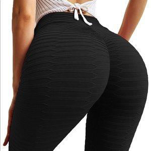 Pants - 046 Women Ruched Butt Lift Yoga Pants Leggings